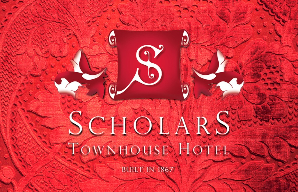 Scholars Townhouse Hotel Logo | Once Upon Design
