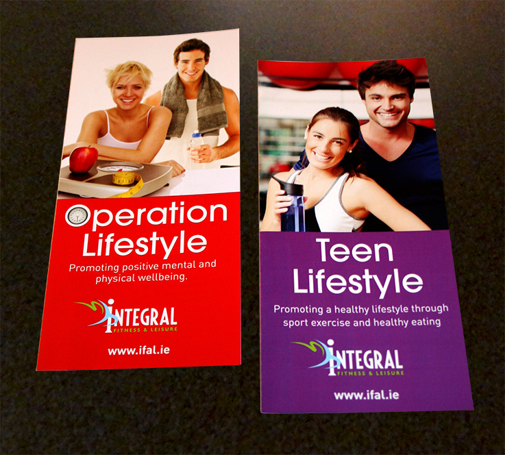 Integral Fitness & Leisure Operation Lifestyle and Teen Lifestyle Leaflets | Once Upon Design