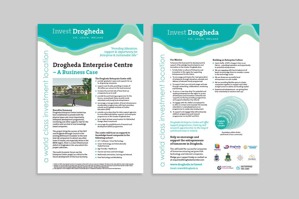 Invest Drogheda Brochure | Once Upon Design