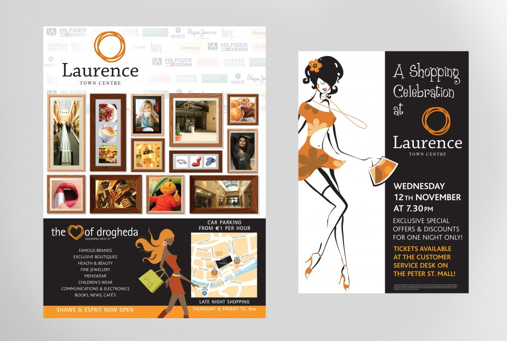 Laurence Town Centre Advertisements | Once Upon Design