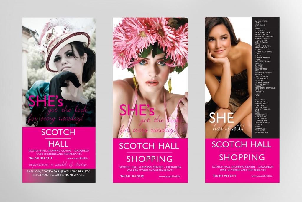 Scotch Hall Event Leaflets | Once Upon Design